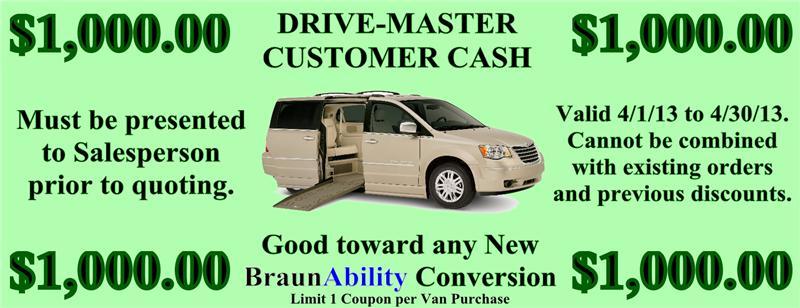 Drive Master Coupon Discount Braun