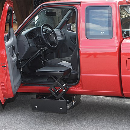 stow-away transfer seat